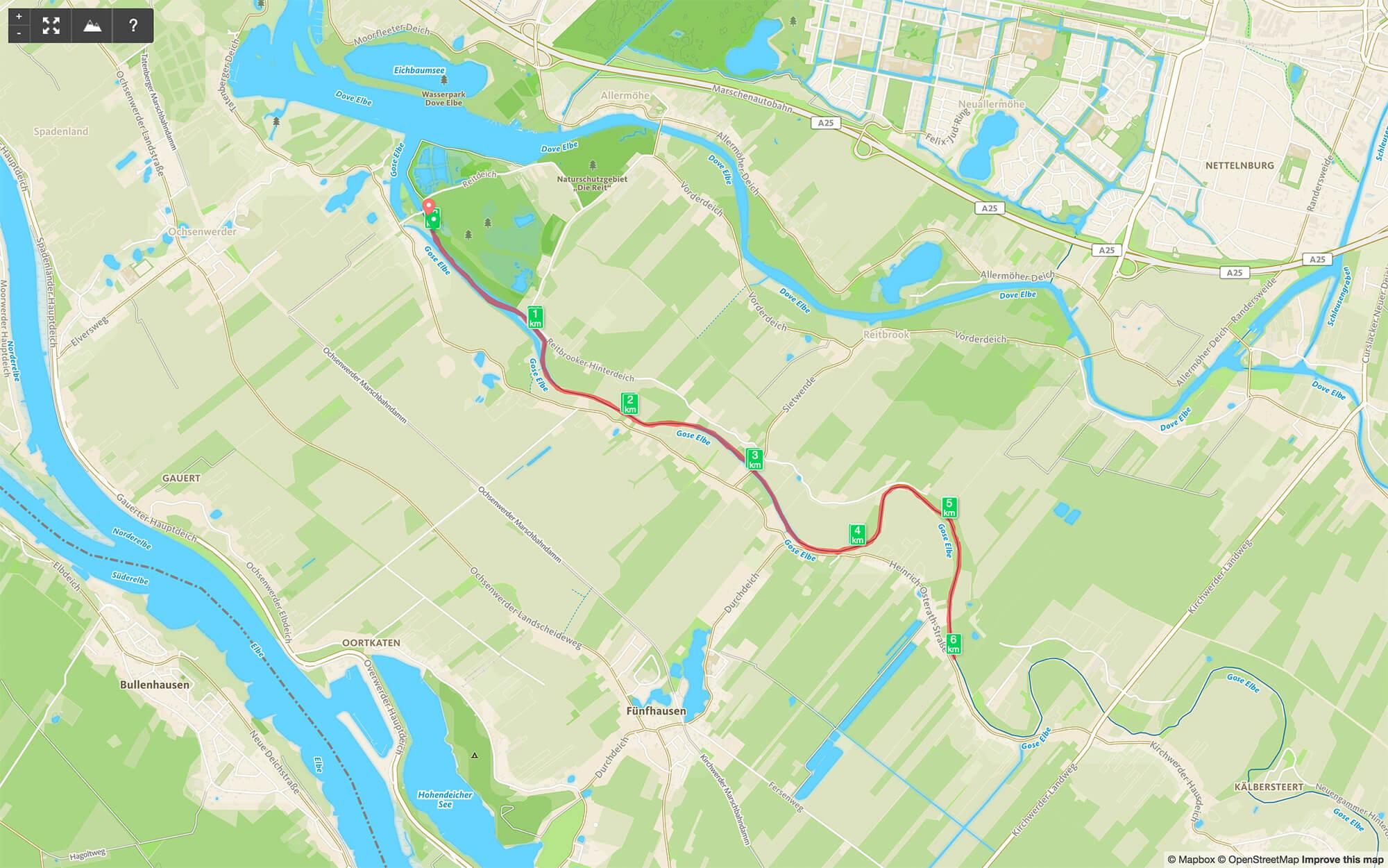 Paddeltour auf der Gose Elbe