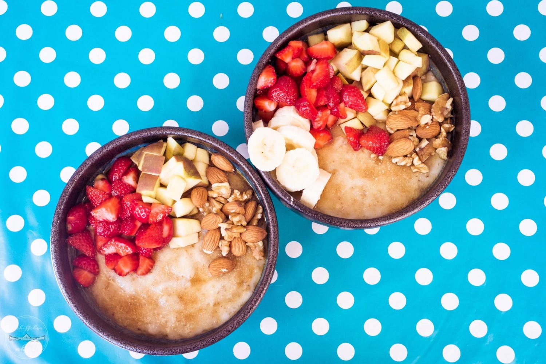 Porridge mit braunem Zucker